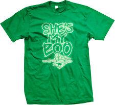 She's My Boo Skeleton Hand Glow In The Dark Neon Halloween Mens T-shirt
