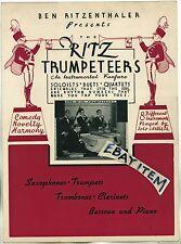 c 1940 BROCHURE Ben Ritzenthaler RITZ TRUMPETEERS Pospisil Pence Bowles TRUMPET
