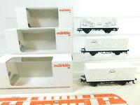 BS513-0,5# 3x Märklin H0/AC Containerwagen 94384, 94385, 94386 NEUW; OVP