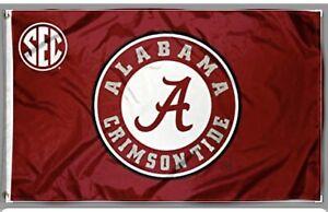 University of Alabama Football Crimson Tide SEC 3 x 5 ft flag USA shipper