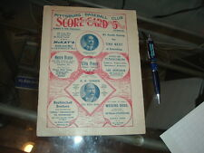 1905 Pittsburgh Base Ball Club Program Score Card vs St Louis with Honus Wagner