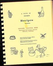 Favorite Recipes Women Overlook Christian Church, Mobile, AL  Cookbook Spiral