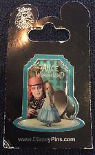 Disney Burton Alice in Wonderland Poster Pin 2010 FIRST RELEASE Mad Hatter