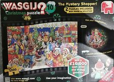 Wasgij Christmas puzzle 10 The Mystery Shopper (2 x 1000 Pieces) 100% COMPLETE