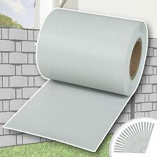 Rouleau 35mx19cm PVC brise-vue pare-vent pour clôture terrasse jardin gris clair