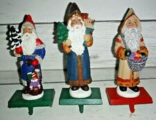 "3 Belsnickle Santa Stocking Holders 8"" Christmas"
