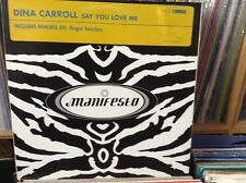"DINA CARROLL-SAY YOU LOVE ME, excellent état 12"" Vinyle"