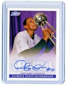 Olympia Scott-Richardson 2005 WNBA Rittenhouse Archives Certified Autograph Auto