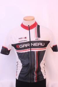 New Louis Garneau Men's Equipe Series Bike Medium Short Sleeve White Top