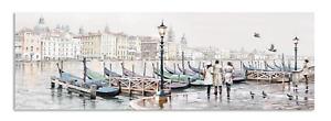 Wandbild Venedig Bild Leinwandbild Italien Leinwand Venezia Gondel 1,8x45x140 cm