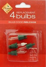 Premier RBLC208 4 X Spare Clear Replacement Christmas Light Bulb + Fuse