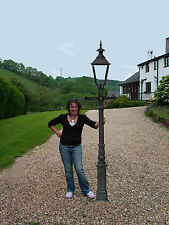 """Cast Iron 90"""" Lamp Post Victorian style straight ladder bar - clear glass (E40)"""