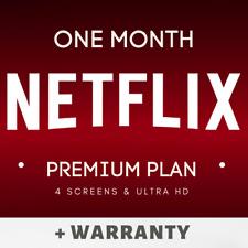Netflx 1 Month Premium | 4k UHD | 4 Screen
