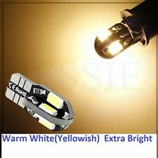 """10x T10 5730 8-SMD Error Free""""Canbus"""" LED bulb - Warm white """"Yellowis"""" us seller"""