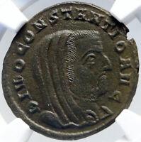 DIVUS CONSTANTIUS I Chlorus Memorial Altar Ancient 305AD Roman Coin NGC i82602