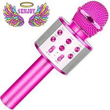 4Enjoy Wireless Bluetooth Karaoke Microphone for Kids Birthday Home Party