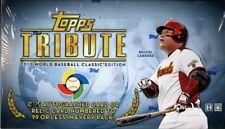 2013 Topps Tribute World Baseball Classic Edition Hobby Box