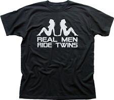 V-TWIN moto DAVIDSON TRIUMPH SUZUKI harley T-Shirt Imprimé Noir 9850