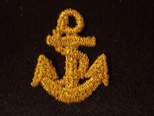 Gold Metallic Anchor Embroidery Applique Patch Emblem Lot (60 Dozen)