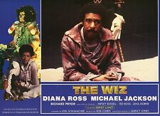 DIANA ROSS MICHAEL JACKSON THE WIZ 1970 VINTAGE PHOTO FRENCH LOBBY CARD N°2 MINT