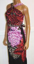 Tahari womens Dress size 2 Vivian dress black with red purple tan Floral RET 148