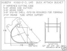 24 Quick Attach Bucket Built To Fit Kubota U 45 Excavator Guaranteed Fit
