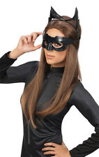 ADULT CATWOMAN CAT WOMAN COSTUME MASK EARS GOGGLE SET DARK KNIGHT RISES BLACK
