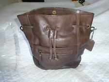 FAT FACE HANDBAG Leather Slouchy Duffle Bag Dark TAN - BNWT