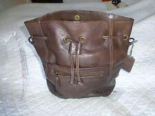 FAT FACE HANDBAG Leather Slouchy Duffle Bag Dark TAN - BNWT