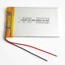 3.7V 650mAh 303759 Lipo Polymer li ion Battery for mobile phone MP3 MID GPS PAD