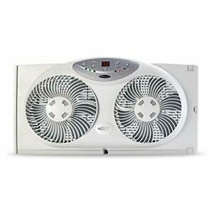 Bionaire Window Fan with Twin 8.5-Inch Reversible Airflow Blades and Remote C...