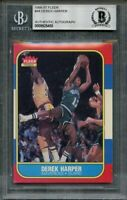 1986-87 fleer #44 DEREK HARPER authentic autograph rookie card BGS AUTHENTIC
