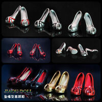 """JIAOU DOLL1:6 Female Fishbill High Heels Shoes Model Toy Fit 12"""" Figure Body"""