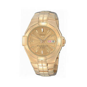 Seiko Men's Gold Plated Automatic Watch SNZE32K