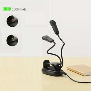 Mini Clip On LED Reading Book Light Lamp Desk   Bedside Light Portable