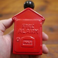 Vintage Avon Fire Alarm Box Red Painted Glass Hair Lotion Cologne Bottle EMPTY