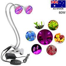 Dual Head 60w Full Spectrum LED Plant Grow Light Flexible Hydroponic Plant Lamp