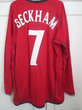 Beckham 7 England 2002-2004 LS Football Shirt Adults Large / 44507