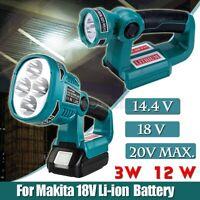 LED Arbeitslicht Taschenlampe Strahler Für Makita DML812 18V / 14.4V Batterie R