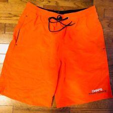 Vintage Chaps Ralph Lauren Spell Out Board Shorts Swim Trunks (Size Medium)