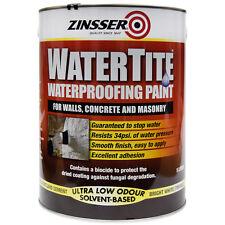 Zinsser Watertite Waterproofing Paint Mould Mildew Masonry Cellar 5 Litre