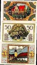 1921 Germany ZEULENRODA set of  50  Phennig Notgeld