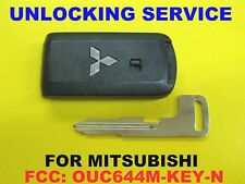 Unlock SERVICE & New UNCUT E-Key For Mitsubishi OUC644M-KEY-N Smart Key Remote