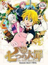DVD Anime The Seven Deadly Sin Season 1&2+OVA Complete TV Anime English Version