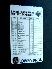 1985 San Diego Chargers Lowenbrau Football Schedule
