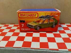 Matchbox Superfast VW GOLF  No 7  EMPTY  Reproduction Box only  NO CAR