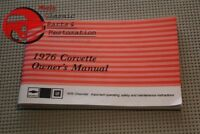 1976 76 Chevy Chevrolet Corvette Vette Owner's Owners Manual
