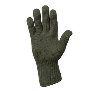 MILITARY STYLE D3A COLD WEATHER GLOVE LINERS 85% WOOL 15% NYLON SIZE 4 MEDIUM