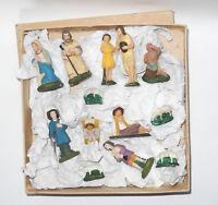 alte Krippenfiguren Massefiguren 2,5-9 cm groß