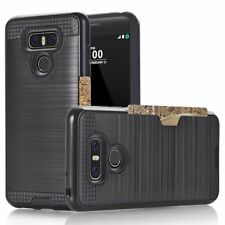 LG G6 Hard Card Case Brushed Metal Effect with Design Accents - NEW - UK STOCK!